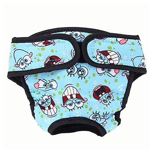 MuZhuo Grote Vrouwelijke Hond Puppy Huisdier Luier Broek Fysiologische Sanitaire Panty Ondergoed, XS, Blauw