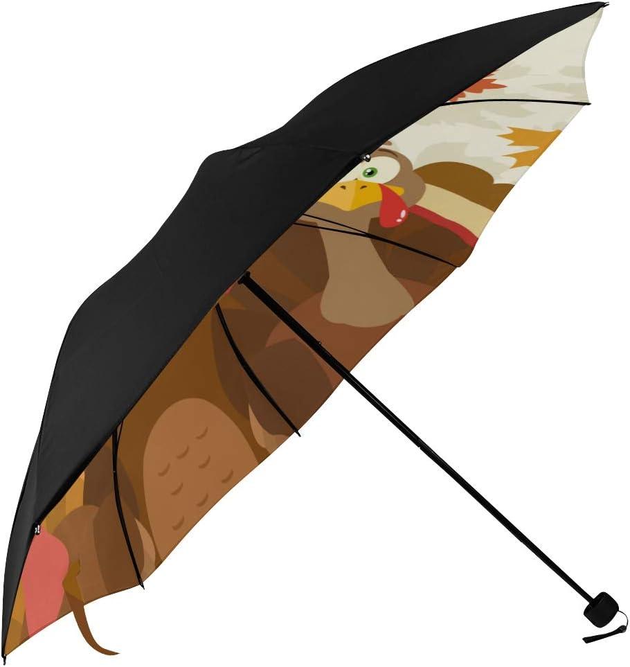 Big Sun Umbrella Thanksgiving Day Max 72% OFF Superior Happy Printin Underside Turkey
