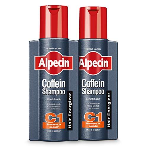 Alpecin Coffein Shampoo C1, 2 x 250 ml – Lo shampoo alla caffeina che previene la caduta dei capelli.