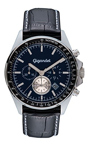 Gigandet G3-008 Montre Bracelet en Cuir Noir