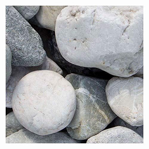Quarz Zierkies Weiss-Grau 1000kg Big Bag 8-16mm, 16-32mm, 30-60mm (30-60mm)