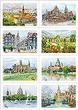 8 Grußkarten Geburtstagskarten mit Kuvert - Hannover