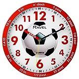 Ravel Children's 25cm Time Teacher Wall Clock - Red Football