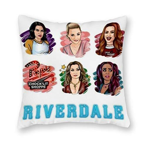Riverdale Kissen – Pop Art – Kissenbezug aus Leinen – ohne Füllung – 40 x 40 cm (nur Bezug)
