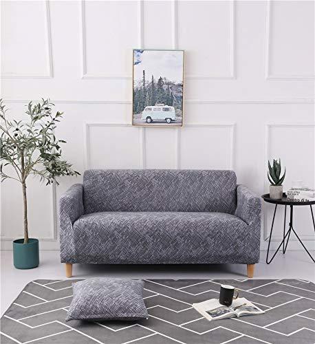 ASCV rutschfeste Couch Schonbezug Universal Spandex Case für Stretch Sofabezug Elastizität Sofabezug für Wohnzimmer A5 4-Sitzer