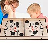 Table Ice Hockey Game 2 Player Fast Sling Board Game, 2 in 1 Table Battle Catapult Bumper Parent-child Interactive Party Fun Family Tabletop Game