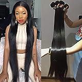 8-40inch Peruvian 3 Bundles 20 20 20 inch Human Hair Bundles Straight Wave 100% Human Hair Weave Long inch Remy Hair Extensions Queen Plus Hair