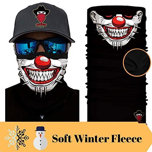 Bandits Team I Bedrucktes Multifunktionstuch I Face Shield aus Mikrofaser- fürs Motorrad-, Fahrrad- und Skifahren I Farbe: Fleece-Clown2 I 1er Pack mit Soft Winter-Fleece