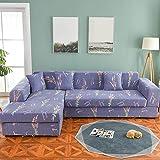 WXQY Funda de sofá nórdica, Funda de sofá de algodón, Funda de sofá Flexible para Sala de Estar, Adecuada para sofá Chaise Longue en Forma de L A8 de 3 plazas