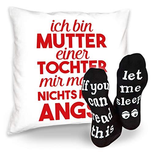 Cadeauset voor mama Ich Bin moeder Een dochter Kerstmis idee moeder bankkussen sofakussen coole sokken