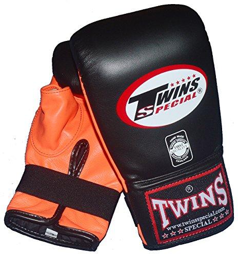 TWINS 本革製パンチンググローブ オリジナルツートンカラー PGTW3120 /黒×オレンジ (M)