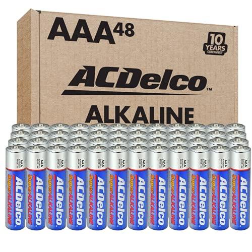 ACDelco 48-Count AAA Batteries, Maximum Power Super Alkaline Battery, 10-Year Shelf Life