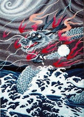 東京文化刺繍キット No212 昇龍 (6号)(Bunka Embroidery/Kits No.212)