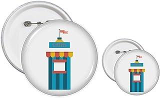 Incroyable kit de création de badges et de tickets de parc.