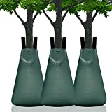Newtion Tree Watering Bag 3 PCS 20 Gallon Slow Release Watering Bag for Trees,Tree Irrigation Bag Made of Durable PVC Material and Heavy-Duty PE Tarpaulin with Zipper(5-9 Hours Releasing Time)