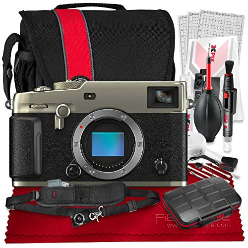 FUJIFILM X-Pro3 Mirrorless Digital Camera (Dura Silver) + Camera Bag, 64GB Memory Card, Xpix Memory Card Case, Xpix Camera Shoulder Strap with Quick Release & Xpix Deluxe Cleaning Accessories