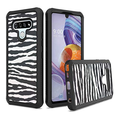 Moriko Case Compatible with Stylo 6 [Cute Drop Proof Shockproof Women Men Hybrid Heavy Duty Black Case Phone Cover] for LG Stylo 6 Spectrum and All Phone Carriers (Zebra)