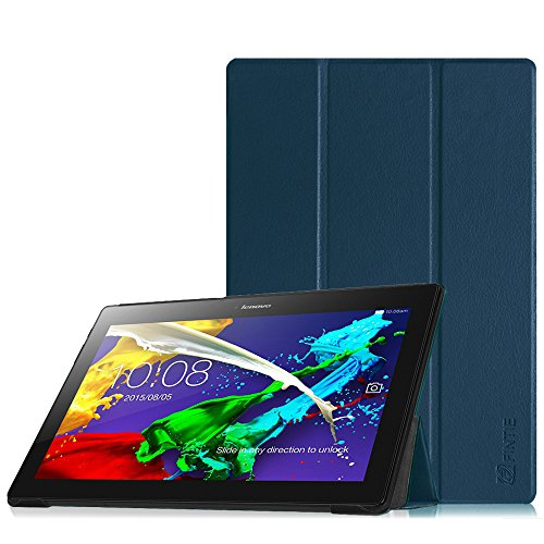 Fintie Lenovo Tab 10 / TAB2 A10-30 Hülle - Ultradünne Superleicht Schutzhülle Tasche mit Auto Sleep/Wake Funktion für Lenovo Tab 3 10 Plus/Tab 3 10 Business 10,1 Zoll Tablet, Marineblau