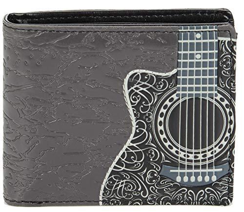 Shagwear - Monederos para hombre jóvenes: Varios colores y diseños: (Guitarra/Guitar Head)