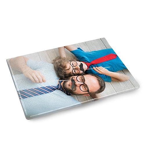 Personello® Schneidebrett aus Glas, personalisierbar mit eigenem Foto, Glasschneidebrett selbst gestalten, Geschenke für die Küche, Fotogeschenk
