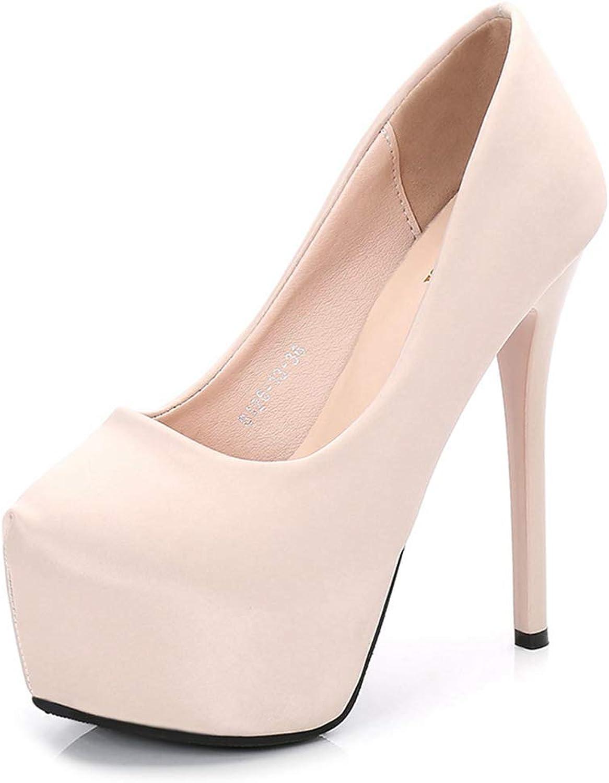 Sam Carle Womens Platform Pumps,Super High Heel Closed Toe Sexy Fashion Business shoes