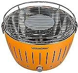 LotusGrill LG G34 U OR Standard Barbecue con batterie e cavo di alimentazione USB, 35 x 23,4 cm, Arancione