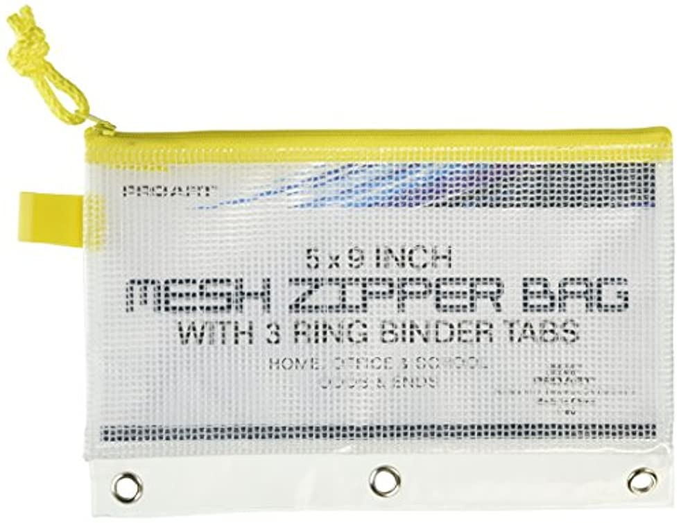 Pro Art PRO-7180 Mesh and Vinyl Bag with Zipper, 5