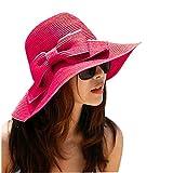 TININNA Bohemia Verano Sun Floppy Mujer Sombrero de la Playa de la Paja del Borde Grande...