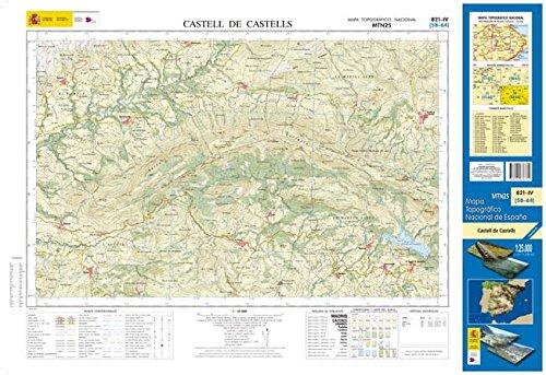 821-4 Castell de castells. Mapa Topográfico Nacional 1:25.000