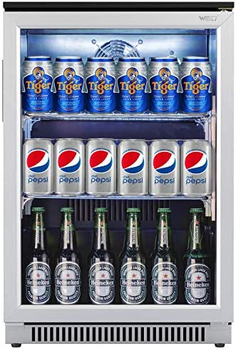 Weili Beverage Refrigerator and Cooler 20 Inches Wide Beer Soda Fridge with Stainless Steel product image