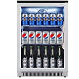 Weili 20 Inches Wide Under Counter Beverage Refrigerator with Glear Glass Door for Beer Bottle Soda...