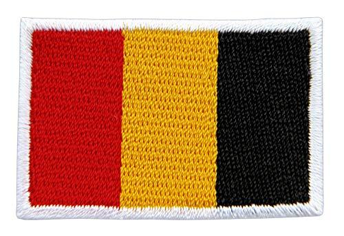 Patch Belgien Flagge Klein Belgium Aufnäher Bügelbild Größe 4,7 x 3,2 cm
