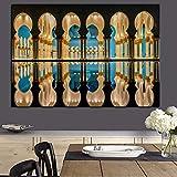 DIY Pintar por números Mosquée Sheikh Zayed Islam moderne Abu Dhabi paysage religieux pintar por numeros principiante Con pincel y pintura acrílica pintura para adultos por nú40x60cm(Sin marco)