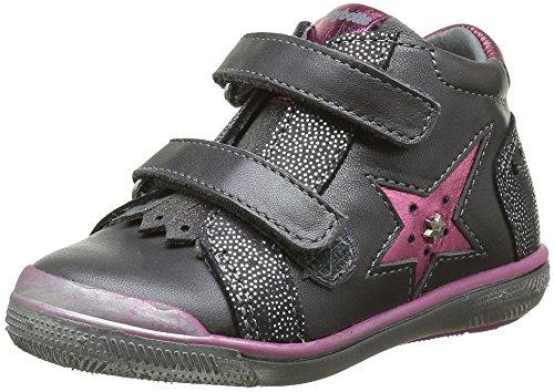 Babybotte Avenir, Chaussures avec fermeture velcro fille, Gris (802 Gris), 24 EU