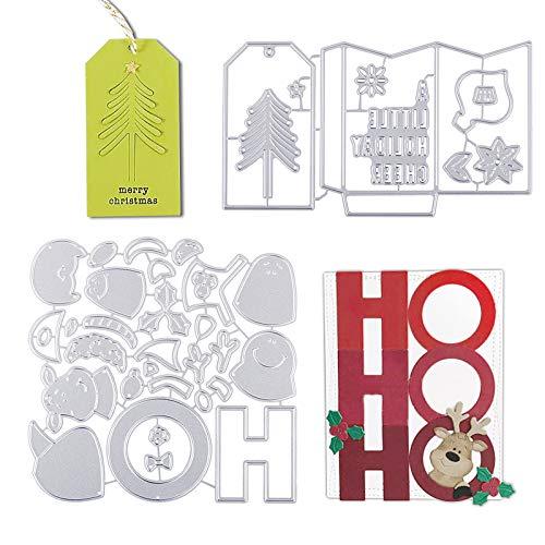 UFLF 3 Juego de Troqueles Árbol Navidad Troqueles Scrapbooking Corte Metal Plantillas Troquelar Estarcir Cutting...