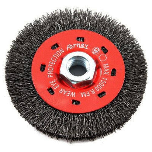 Forney  1 in Crimped  Wire Wheel Brush  Metal  20000 rpm 1 pc.