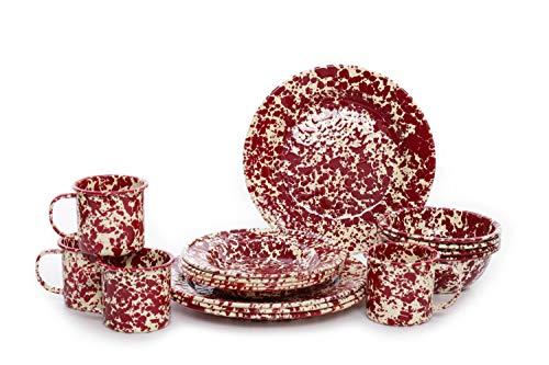 burgundy serving dishes - 2