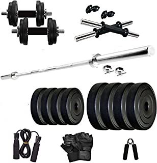 StarX Home Gym Combo of 26 Kg Weight with Rods Set and Accessories