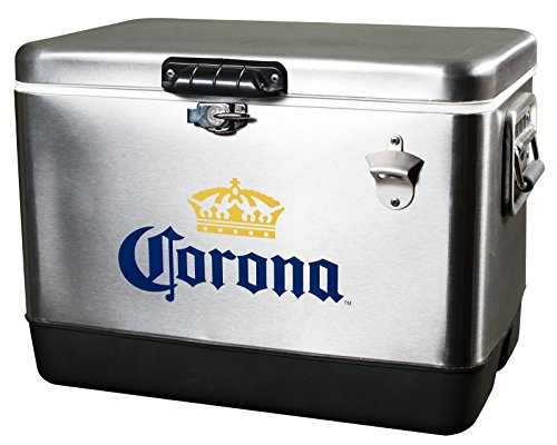 Corona Cooler, Stainless Steel, 54-Quart