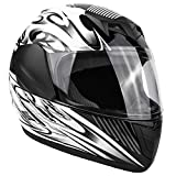 Typhoon Youth Full Face Motorcycle Helmet Kids DOT Street - White Pink Butterfly...