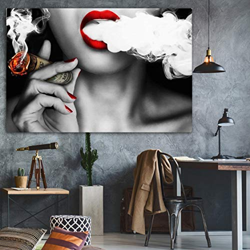 Danjiao Zitat Und Plakat Frau Mit Gelddruck Wandölgemälde Bilddruck Auf Leinwand Ohne Rahmen Idee Home Decoration Wohnzimmer 60x90cm