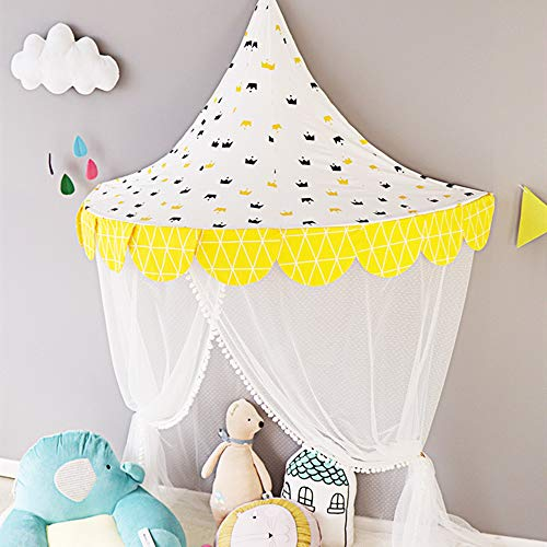 Sale!! SLDZ Bed Canopy Lace Mosquito Net with Gauze Curtain Unique Pendant Play Tent Bedding Round D...