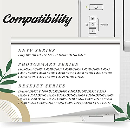AAKIDINK Remanufacturado Reemplazo para hp 300 XL 300XL Negro Cartuchos Tinta Compatible con PhotoSmart C4780 D110a C4680 C4600 C4670 Envy 120 114 110 DeskJet F4580 D1660 F4272 F4280 D2560 Impresora