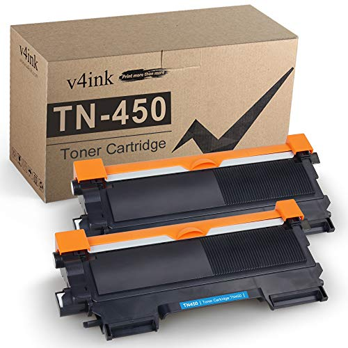 v4ink Compatible Toner Cartridge Replacement for Brother TN450 TN420 Black Toner Cartridge High Yield Use for HL-2240d HL-2270dw HL-2280dw MFC-7360n MFC-7860dw IntelliFax 2840 2940 Printer 2 Packs