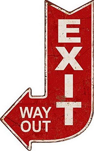 Targa Freccia in Metallo Exit - Way out