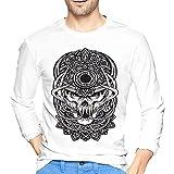 KSEMOTI Fun Skull - Camiseta de manga larga para hombre, Figura 2, S