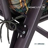Homeoutfit24 Sun Garden 4-Stück Gartenstuhl-Auflage - 8