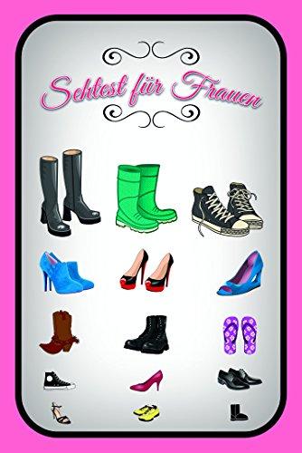 Schatzmix Sehtest für Frauen, Schuhe blechschild