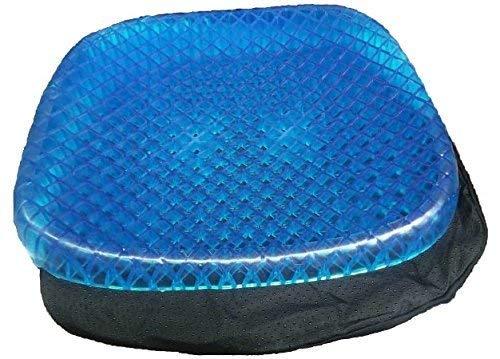Deals - Cojín ortopédico de gel para silla de oficina o coche con funda antideslizante y transpirable, diseño de panal de abeja