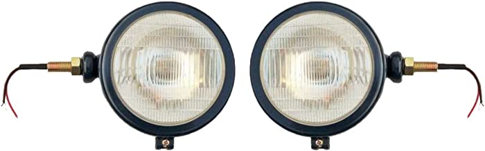 Bajato Head Lamp Set (Lh+Rh) for Ford 2000 3000 4000 5000 7000 Tractor (Dark Blue) - 11000303